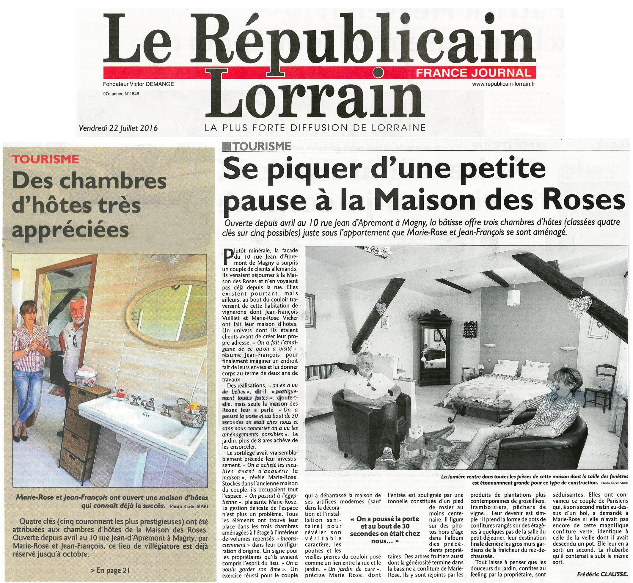 Chambres D Hotes La Maison Des Roses Metz Revues De Presse
